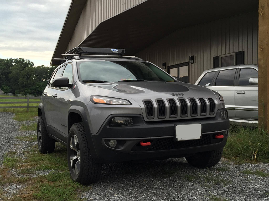 """2016 Jeep Cherokee Lifted >> 1.5"""" Spacers on all 4 wheels before and after pics. - Page 2 - 2014+ Jeep Cherokee Forums"""